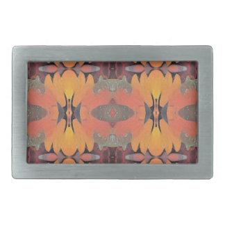 Peach Orange Tribal Pattern Belt Buckle