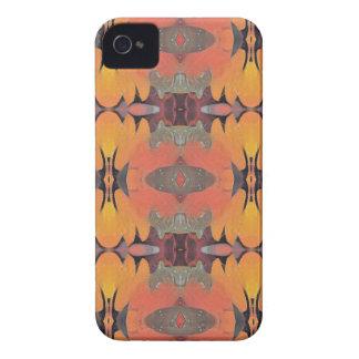 Peach Orange Tribal Pattern iPhone 4 Case
