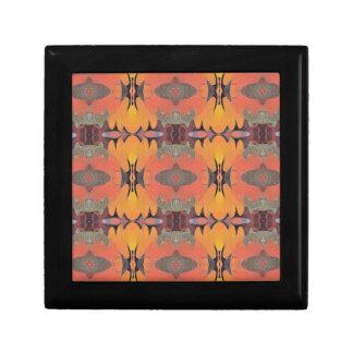 Peach Orange Tribal Pattern Jewelry Boxes