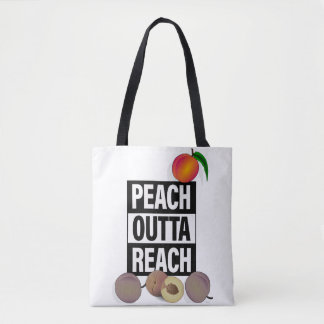 PEACH OUTTA REACH TOTE BAG