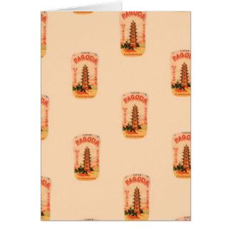 Peach Pagoda Card