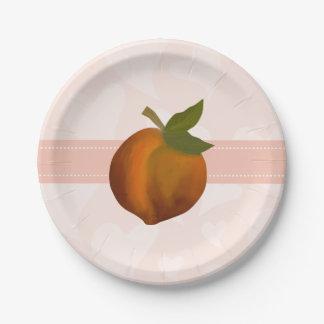 Peach Paper Plate