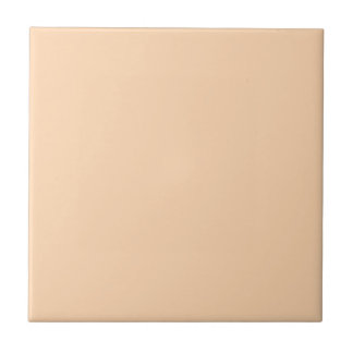 Peach Pastel Orange Solid Color Tiles