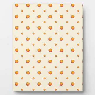 Peach Pattern Plaque