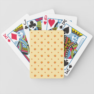 Peach Pattern Poker Deck