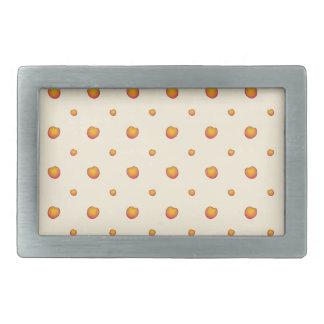 Peach Pattern Rectangular Belt Buckles