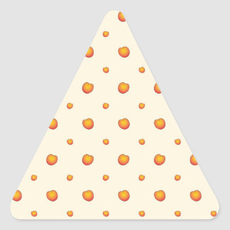 Peach Pattern Triangle Sticker