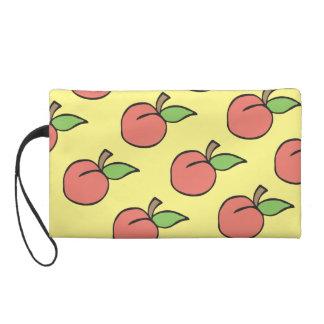 Peach Pattern Wristlet
