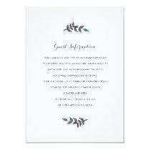"Peach Peonies Wedding Insert 4.5"" X 6.25"" Invitation Card"