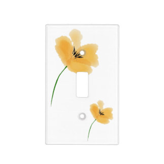 Peach Petal Light Switch Cover