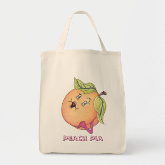 """Peach Pia"" Grocery Bag"