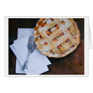 """ PEACH PIE FOR TWO "" CARD"