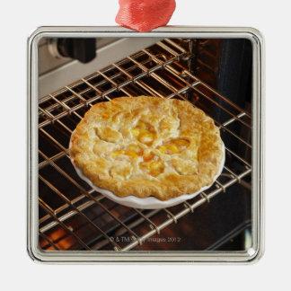 Peach Pie Metal Ornament