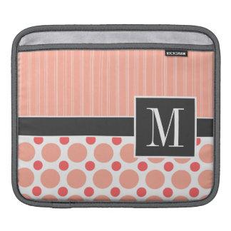 Peach, Pink, & Coral Polka Dots iPad Sleeves