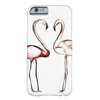 Peach Pink Flamingos Flamingo Tropical Barely There iPhone 6 Case