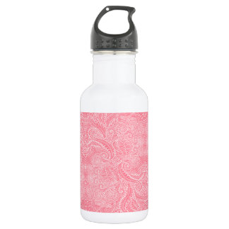 Peach Pink Floral twists 532 Ml Water Bottle