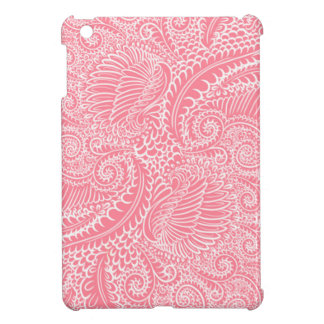 Peach Pink Floral twists iPad Mini Case