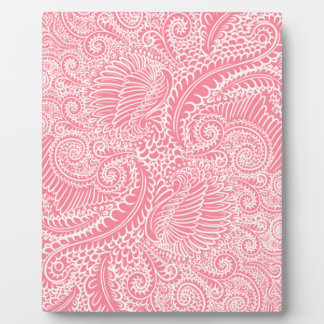 Peach Pink Floral twists Plaque