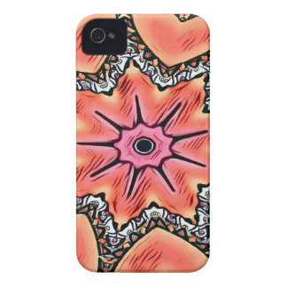 Peach Pink Kaleidoscope Funky Pattern Case-Mate iPhone 4 Cases