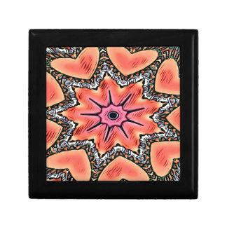Peach Pink Kaleidoscope Funky Pattern Gift Box