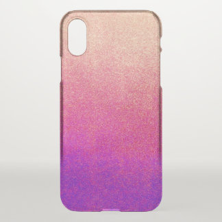 Peach Pink Neon Purple Ombre Spray Paint Texture iPhone X Case