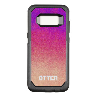 Peach Pink Neon Purple Ombre Spray Paint Texture OtterBox Commuter Samsung Galaxy S8 Case