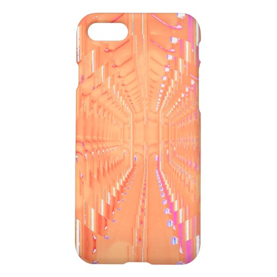 Peach Pink Optical Tunnelling Illusion iPhone 7 iPhone 8/7 Case