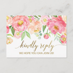 Song request rsvp gifts on zazzle ca peach pink peony flowers song request rsvp card mightylinksfo