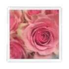 Peach Pink Roses Square Acrylic Tray