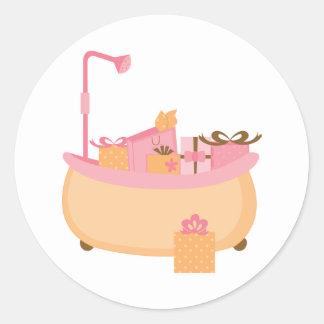 Peach & Pink Tub Stickers