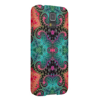 Peach Pink Turquoise Abstract Cases For Galaxy S5