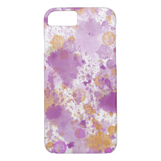 Peach Pink Watercolor Abstract iPhone 7 Case