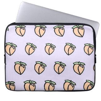 Peach, Please Pattern Laptop Sleeve
