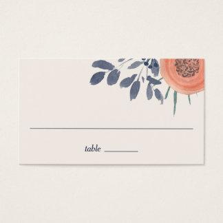 Peach Poppies Wedding Escort Place Cards