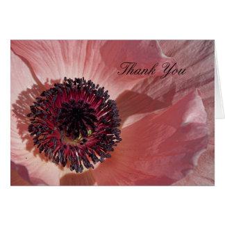 Peach Poppy Thank You Notecard