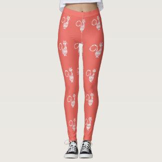Peach-Preppies_Diamond-Cat's_ LEGGING'S_XS-XL Leggings