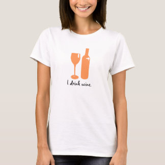 Peach Print for Wine Lovers | Women's Shirt