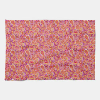 Peach & Purple Paisley Kitchen Towel