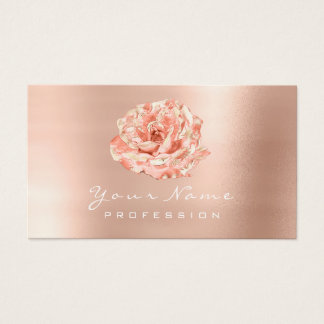 Peach Rose Gold Blogger Stylist Beauty Studio lux Business Card