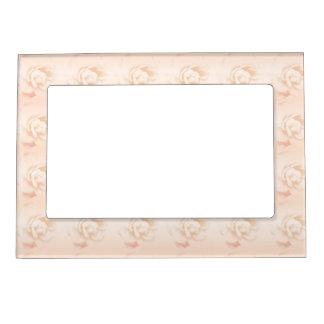 Peach Rose Photo Frame Magnet