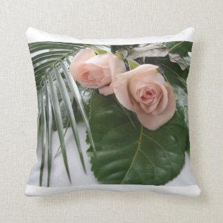 Peach Rose Pillow