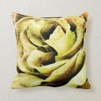 """Peach rose ""rose petal pillow yellow"