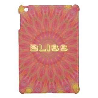 Peach Rose Yellow 'Bliss' Mandela Pattern iPad Mini Case