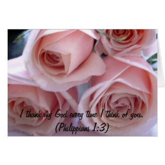 Peach roses greeting card