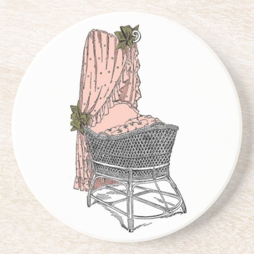 Peach Sage Baby Bassinet Coaster