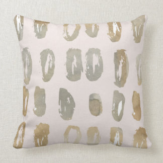 Peach Sand Watercolor Oval Abstract Throw Pillow