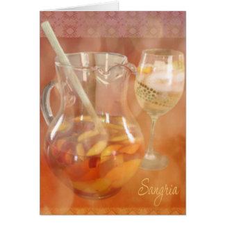 Peach Sangria Card