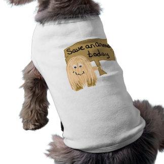 Peach save animal dog tshirt