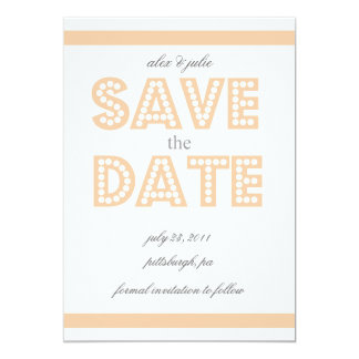 peach save the date card
