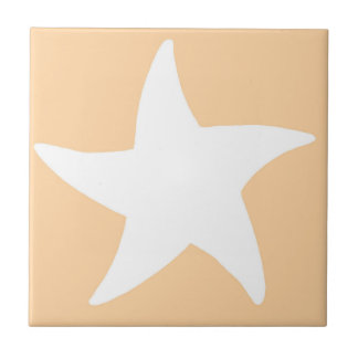 Peach Sea Star Tile